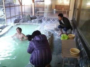東京ウォーカー、渓流露天風呂取材