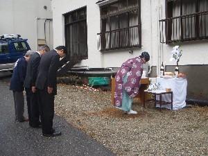 秘湯の宿元泉館別館改装工事地鎮祭
