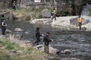 箒川渓流釣り解禁