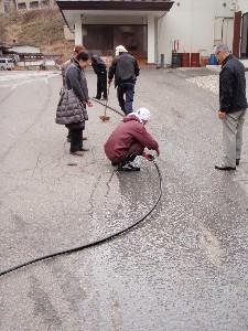 湯送管の清掃