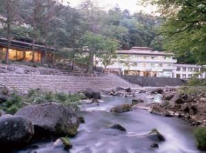 渓流沿いの宿秘湯の宿元泉館