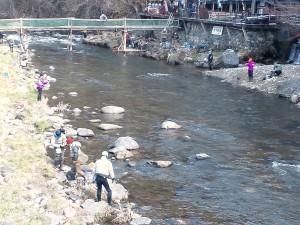 箒川渓流釣り