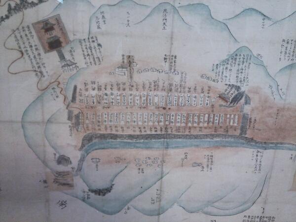 元湯温泉古絵図