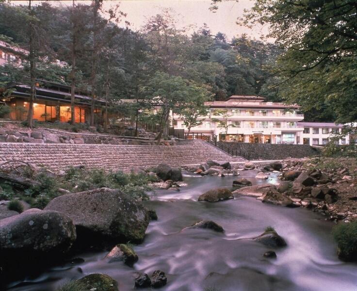 渓流沿いの宿